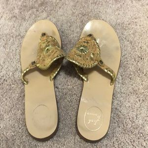 Jack Rogers Size 11 cork sandals gold